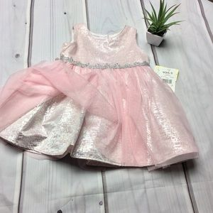🌸NWT youngland 2T Pink/Silver Shimmer